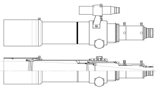 FSQ-85ED Focal Plane